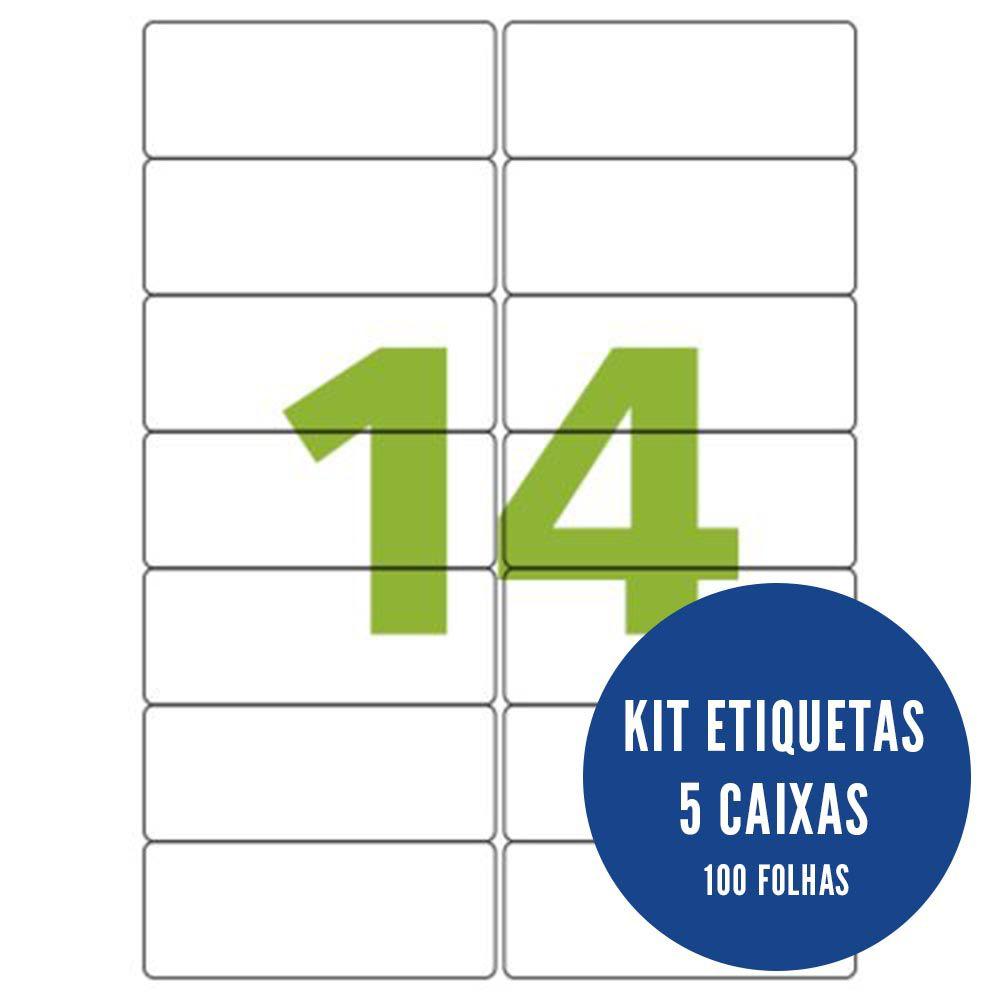 Etiqueta Nº14 5 caixas 100 folhas Colacril