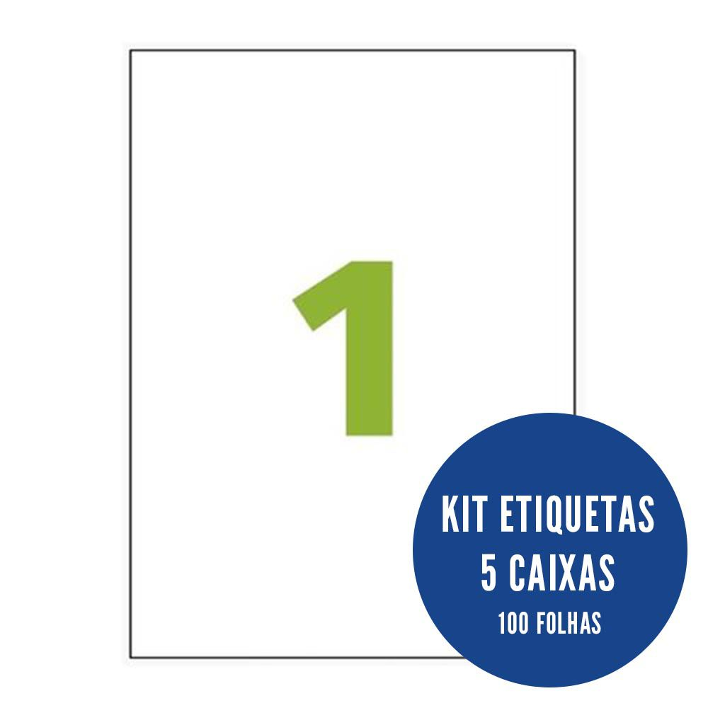 Etiqueta Nº1 5 caixa 100 folhas Colacril