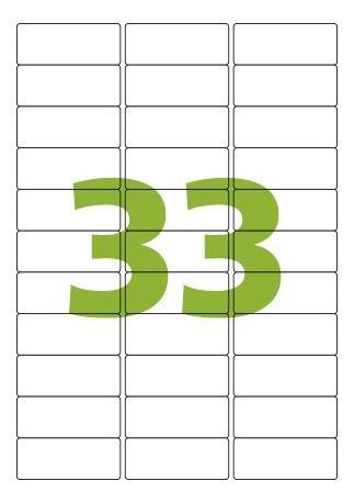 Etiqueta Nº33 10 folhas Colacril