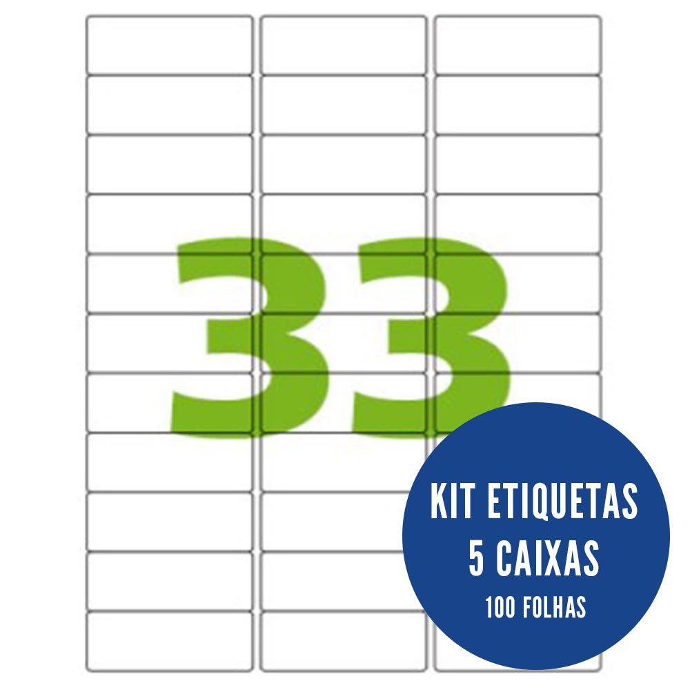 Etiqueta Nº33 5 caixas 100 folhas Colacril