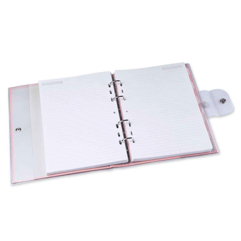Fichário ultra 190 fls pink stone LOVE PVC Ótima