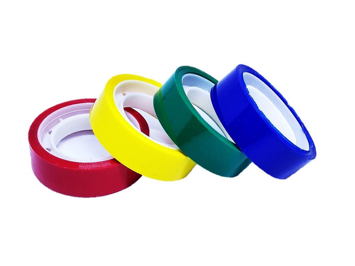 Fita adesiva 12mmx10m colorida adere