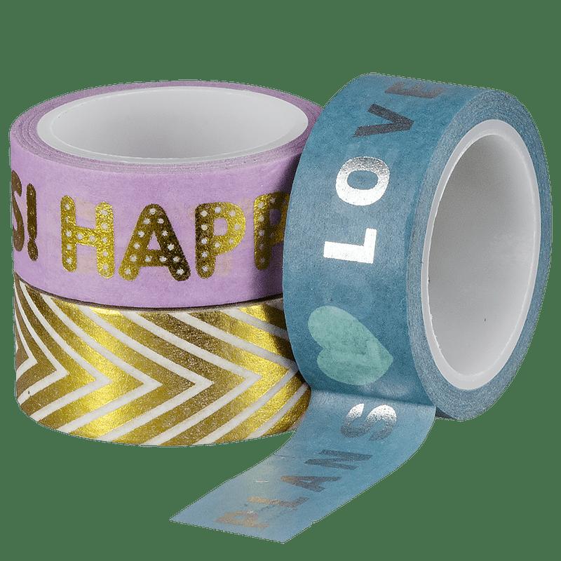 Fita adesiva Washi Tape shine 30 un Brw