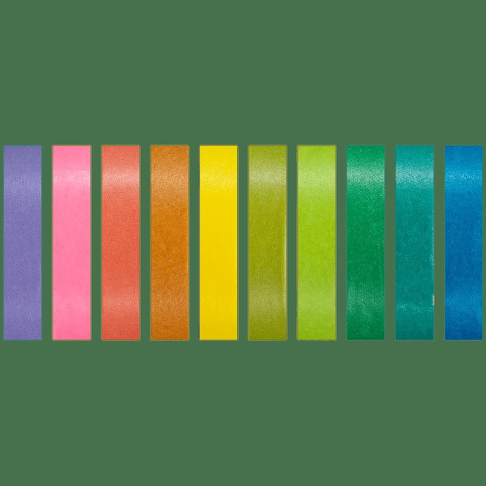 Fita adesiva Washi Tape Slim fresh colors 10 un Brw