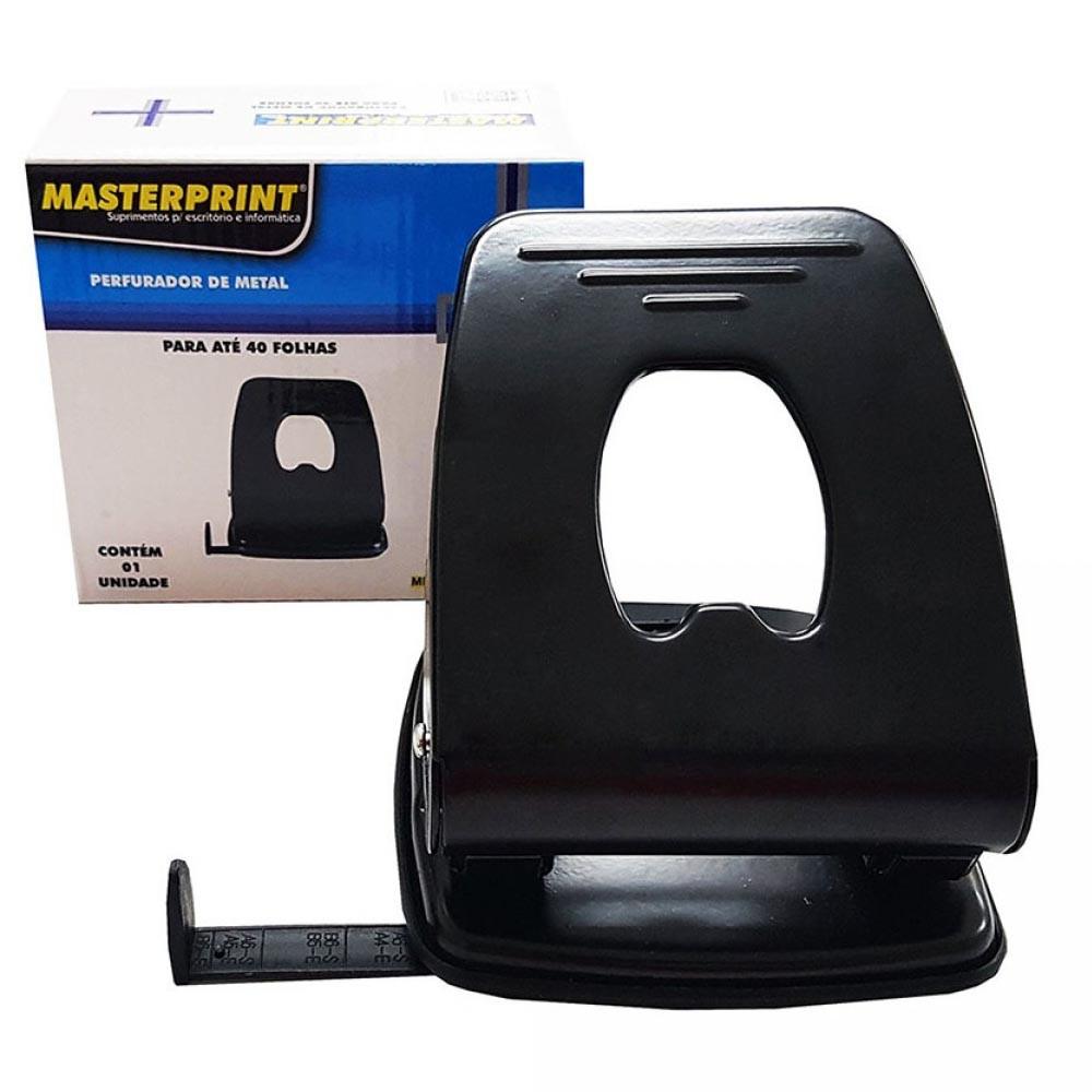 Furador 2 furos 40 folhas MP 802 Masterprint