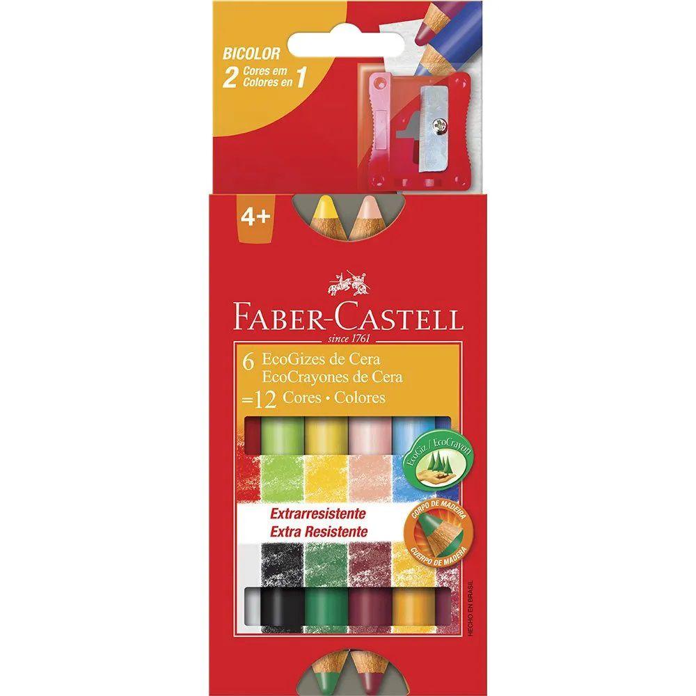 Giz de cera  eco 12 cores Faber-Castell