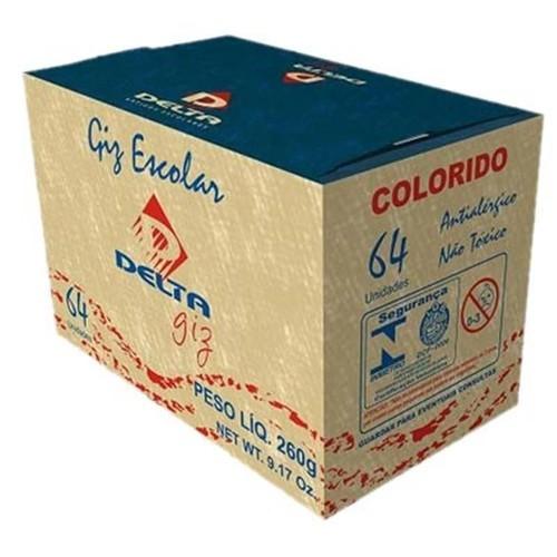 Giz escolar 64 un colorido Delta