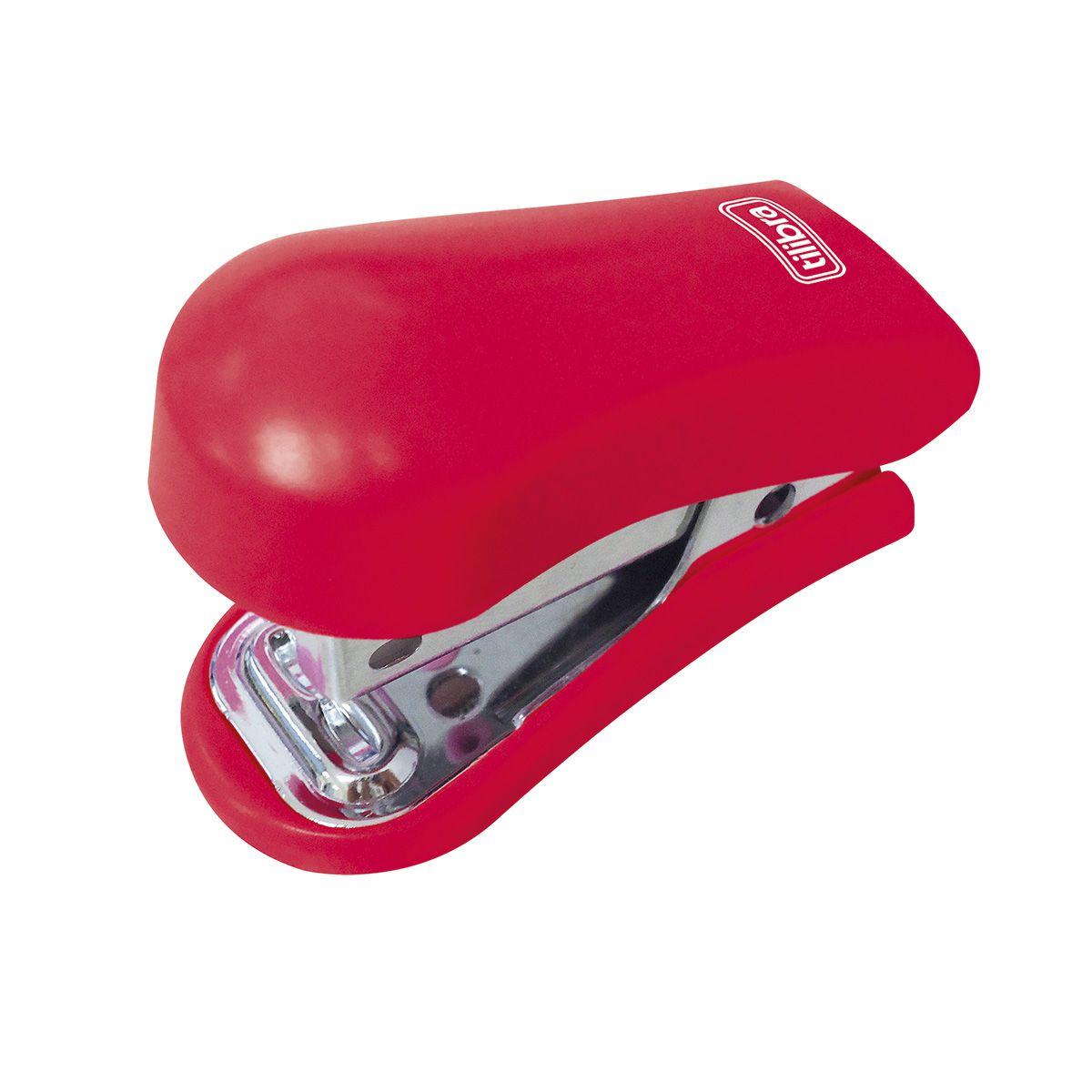 Grampeador mini para 12 folhas vermelho G101 Tilibra