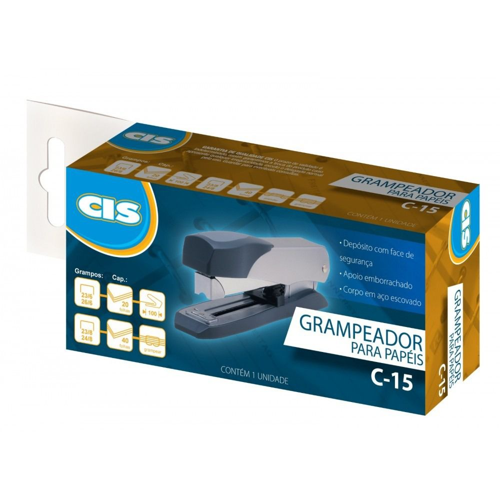 Grampeador para 40 folhas C-15 Cis