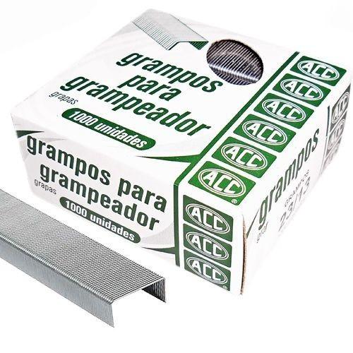 Grampo grampeador 23/13 galvanizado 1000 un Acc