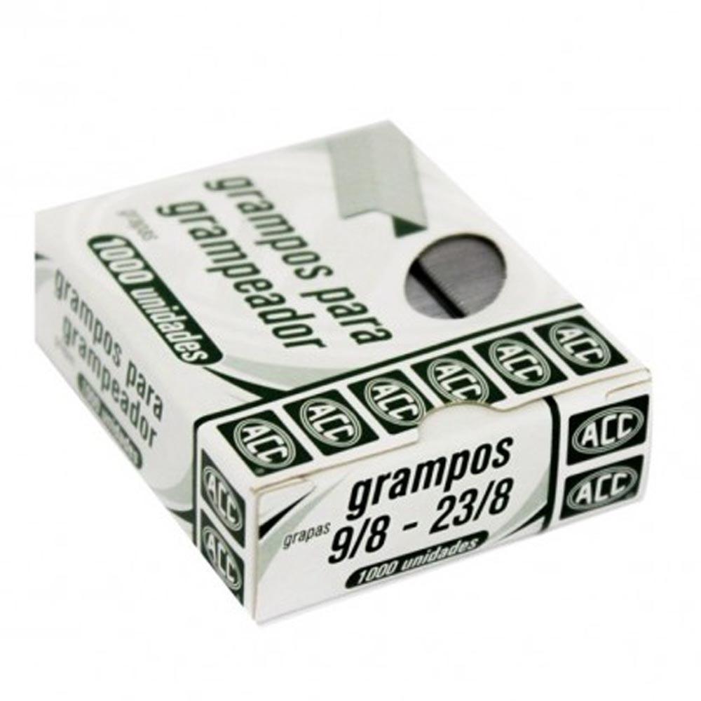 Grampo grampeador 9/8 23/8 galvanizado 1000 un Acc