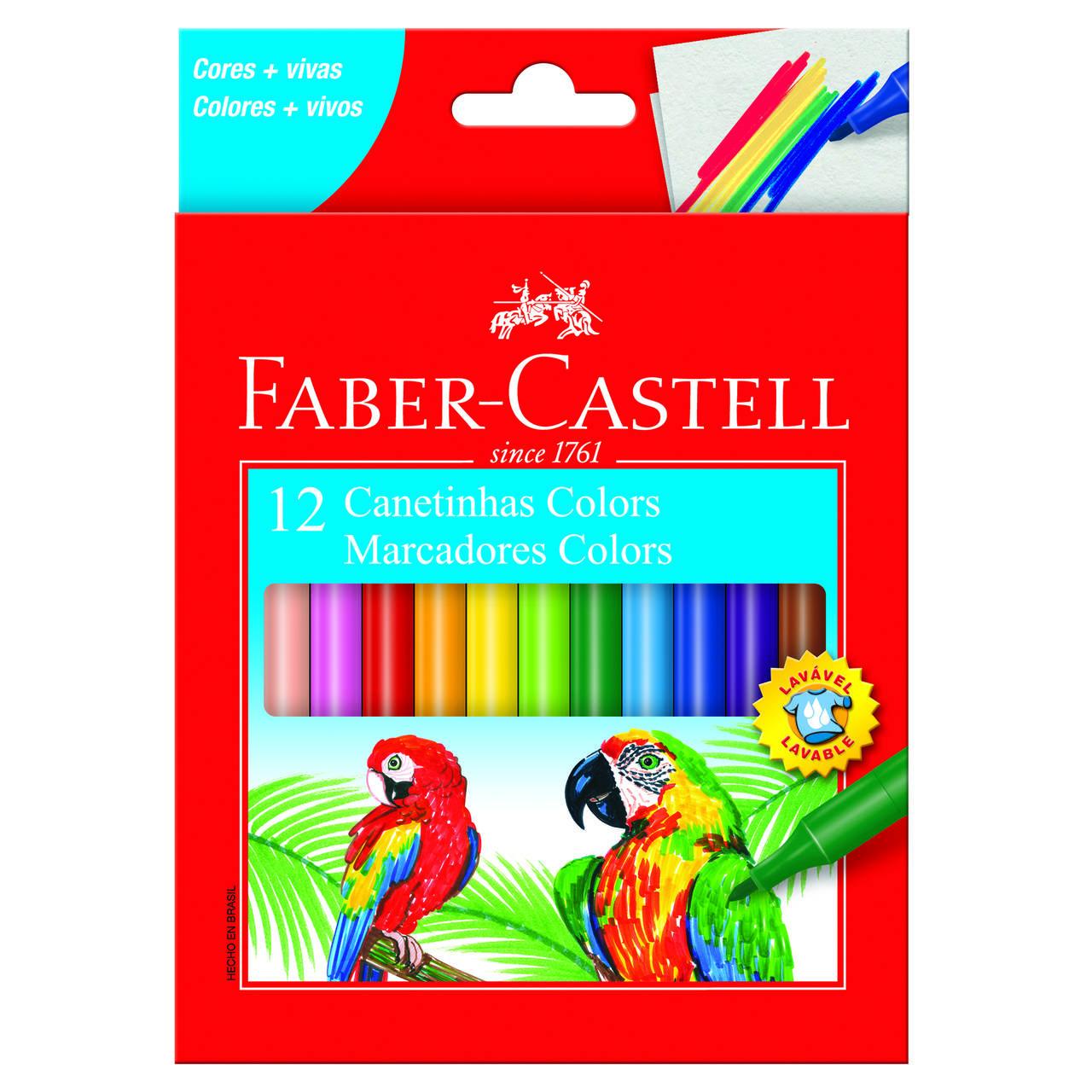 Hidrográfica 12 cores Faber-Castell
