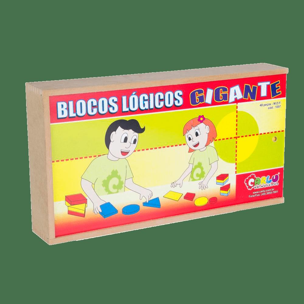 Jogo pedagógico blocos lógicos gigante 48 peças Carlu