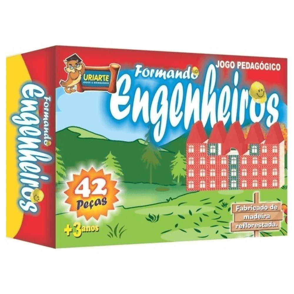 Jogo pedagógico Engenheiros 42 peças Uriarte