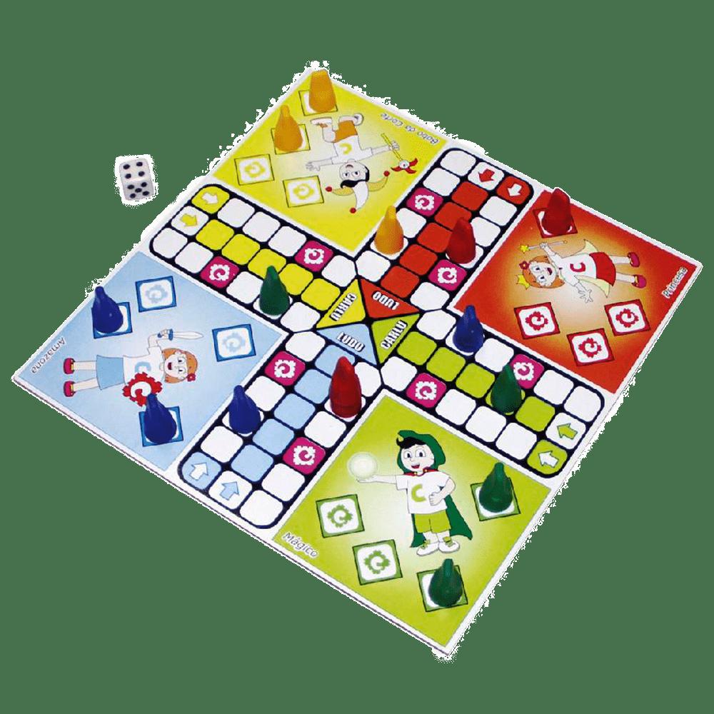 Jogo tabuleiro 5 em 1 Clássicos Carlu