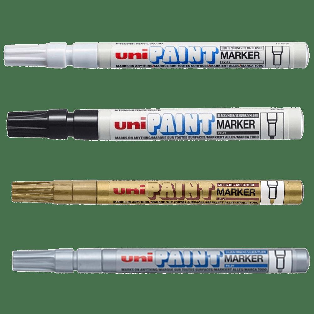 Kit caneta permanente 0.8 4 un Uni Paint
