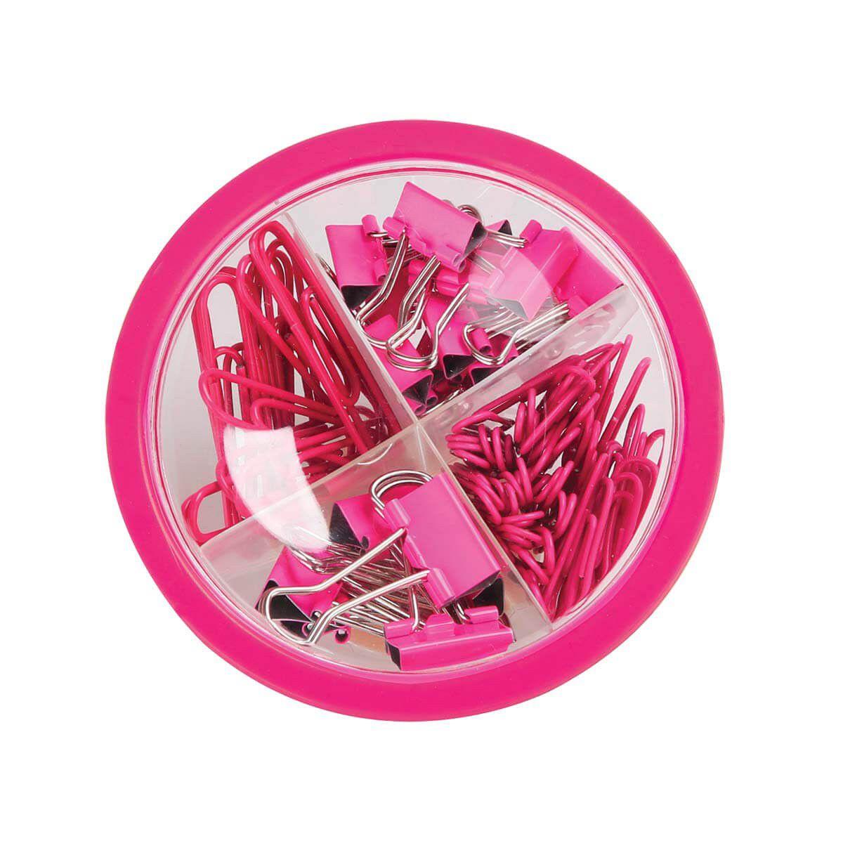 Kit clips e binder Pink Tilibra