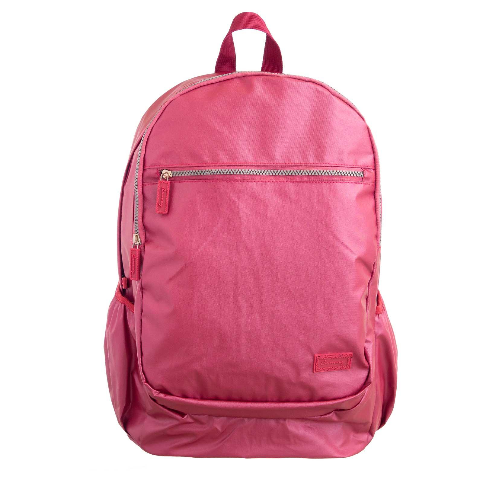 Kit mochila + estojo metalizado rosa convoy