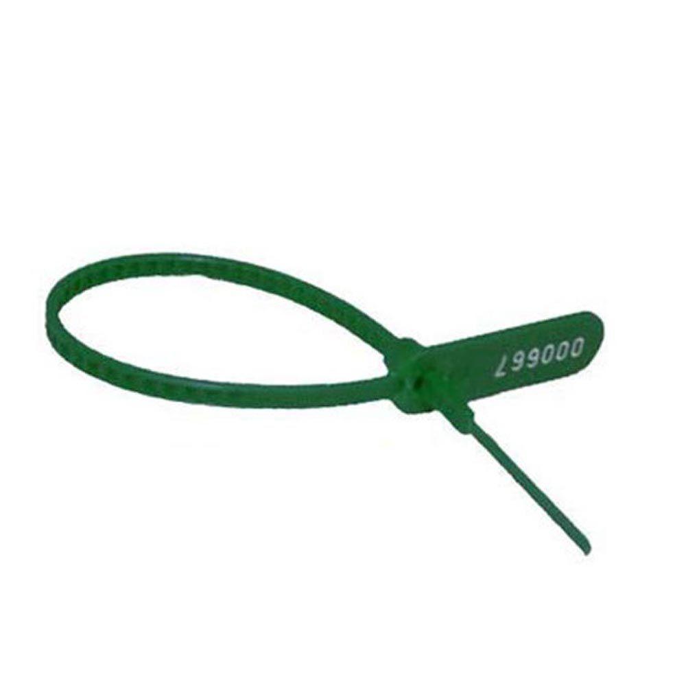 Lacre para malote verde 16 cm 100 un