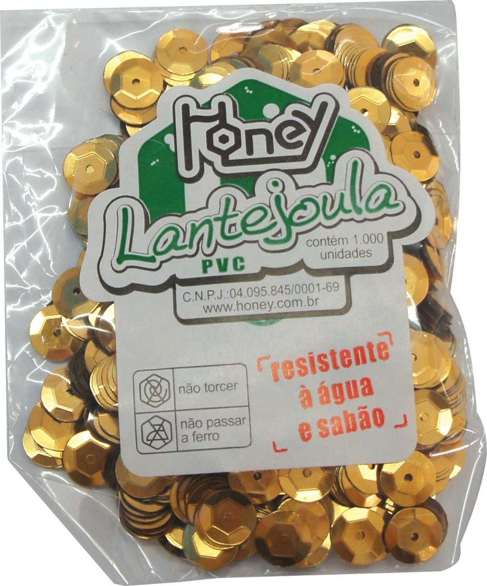 Lantejoula n°10 c/1000 ouro Honey
