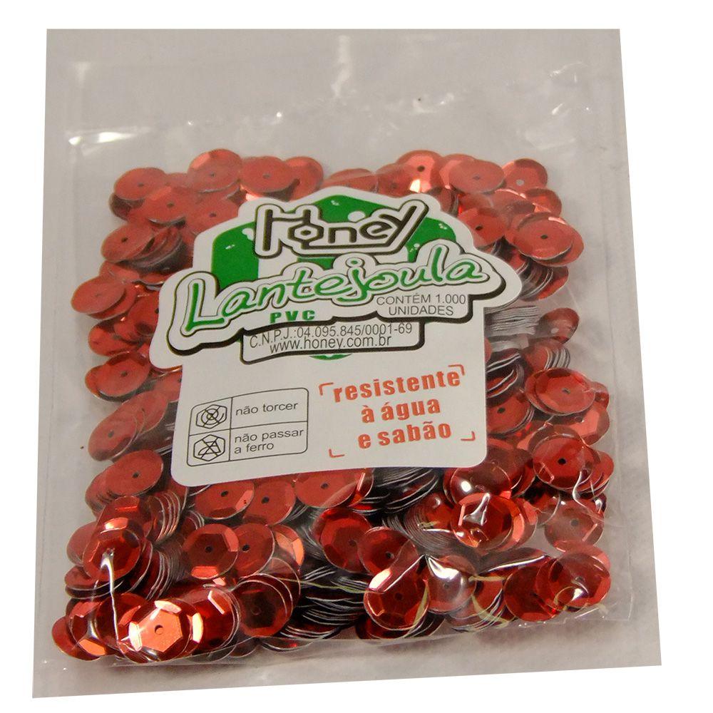 Lantejoula n°10 c/1000 vermelho Honey