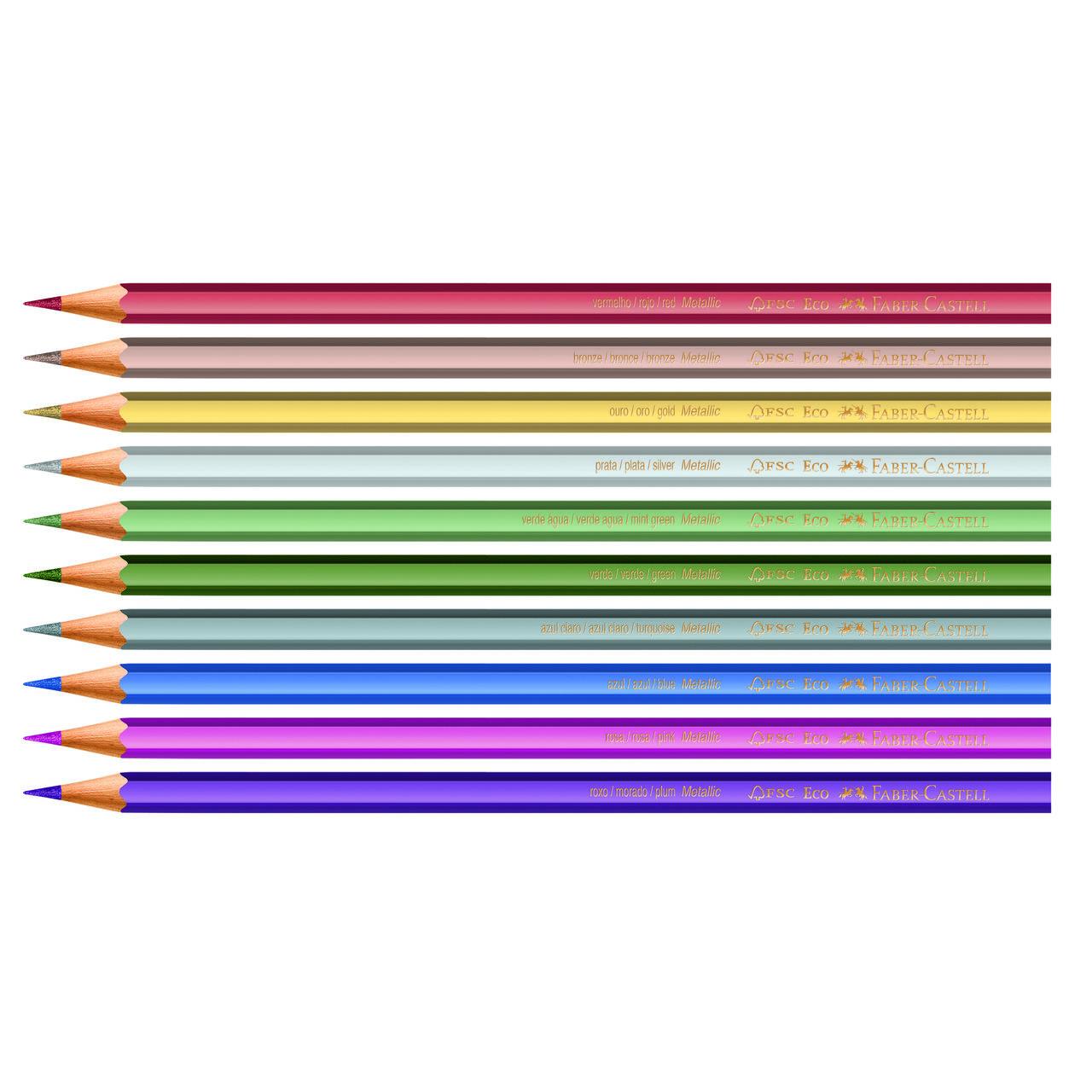 Lápis de cor 10 cores metálico Faber-Castell