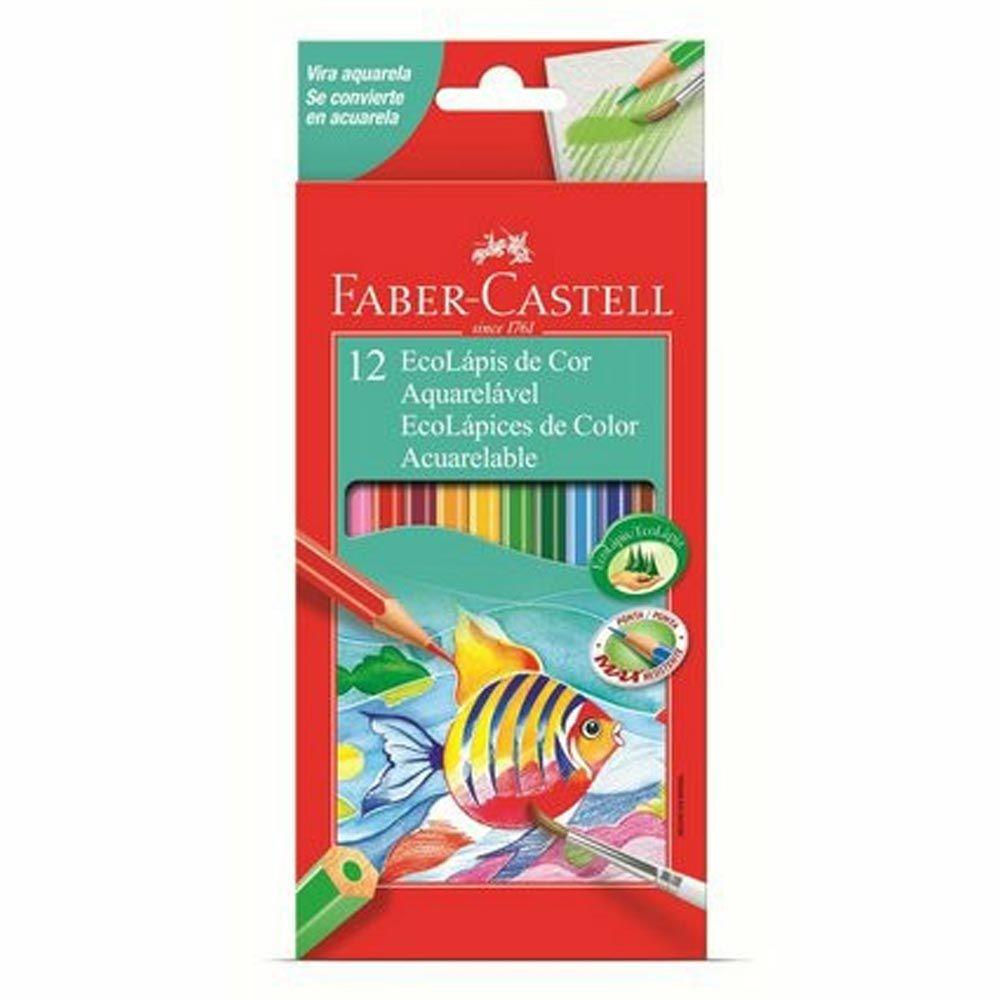 Lápis de cor 12 cores AQUARELÁVEL Faber-Castell