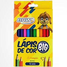 Lápis de cor 12 cores JUMBO Brw