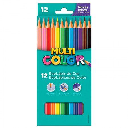 Lápis de cor 12 cores Multicolor