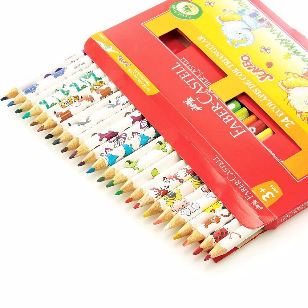 Lápis de cor 24 cores JUMBO Faber-Castell