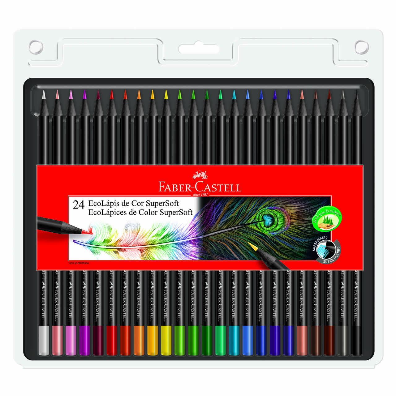 Lápis de cor 24 cores SUPERSOFT Faber-Castell