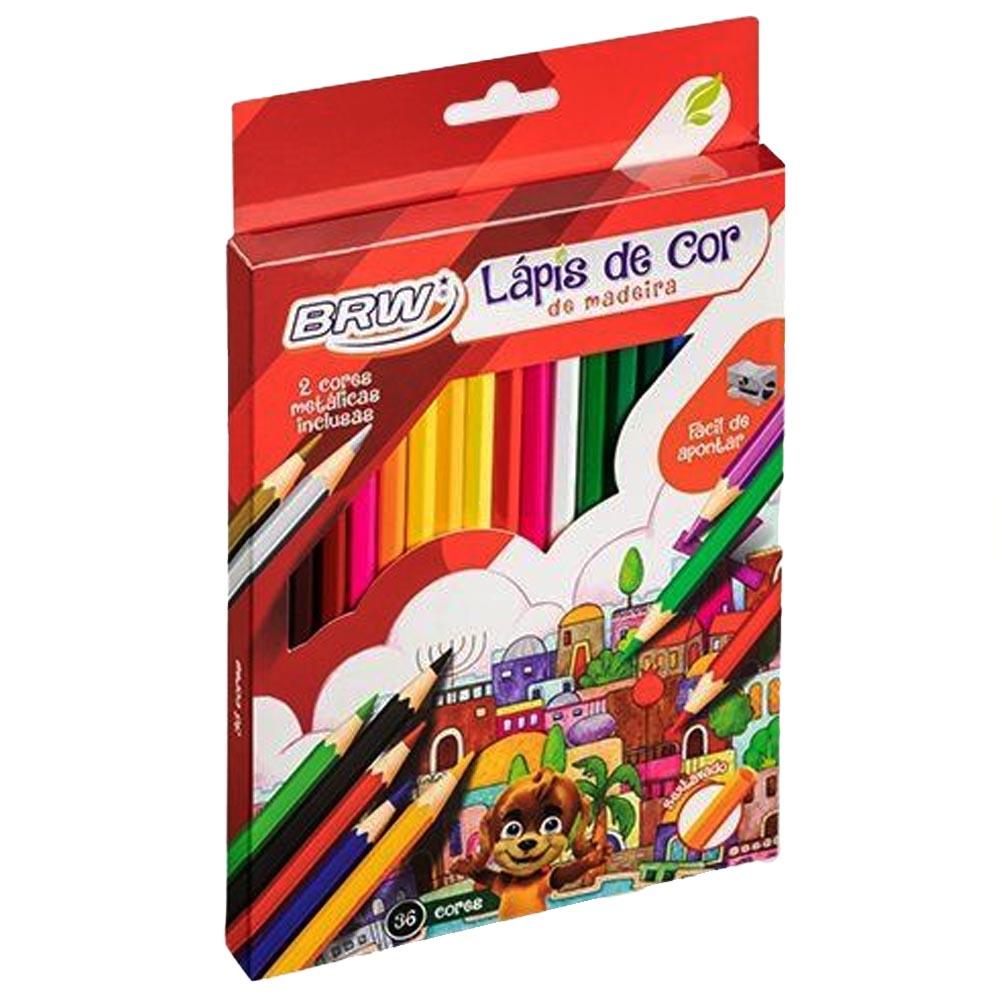 Lápis de cor 36 cores Brw