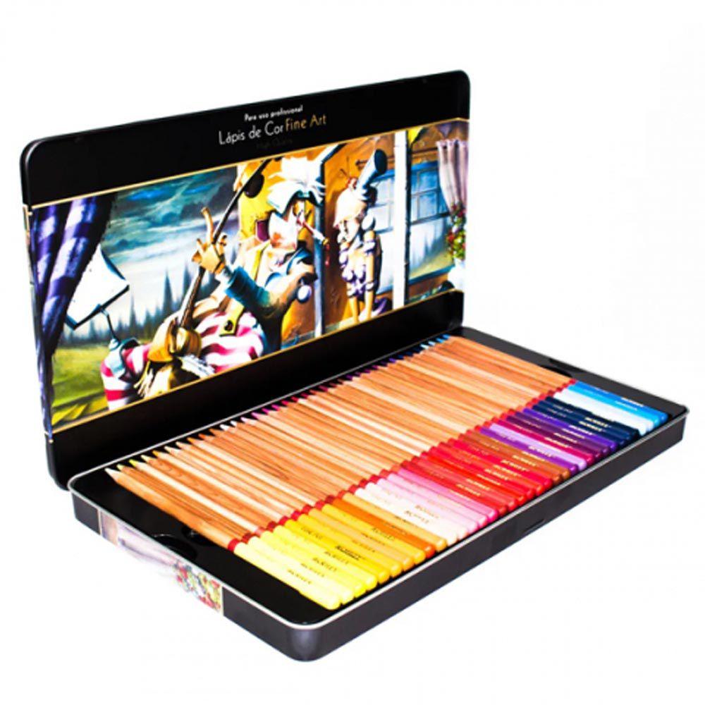 Lápis de cor 72 cores Fine Art Acrilex