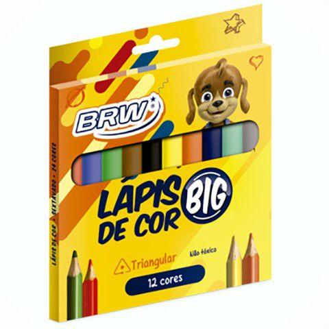Lápis de cor mini 12 cores JUMBO Brw