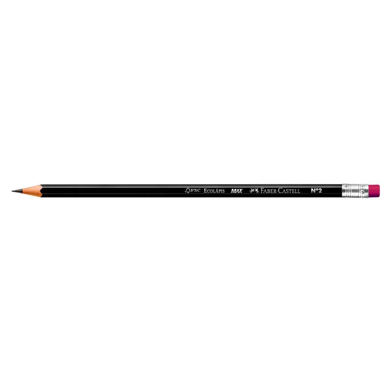 Lápis preto c/ borracha MAX preto Faber-Castell