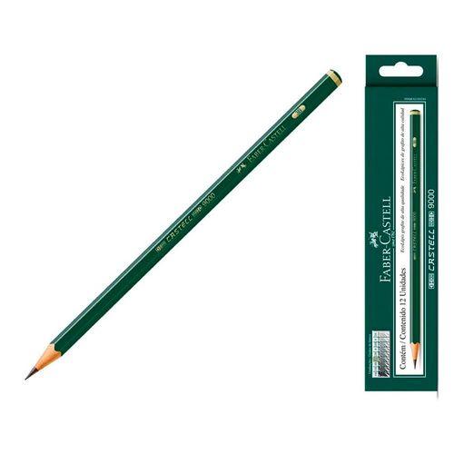 Lápis técnico 2B 9000 12 un Faber-Castell