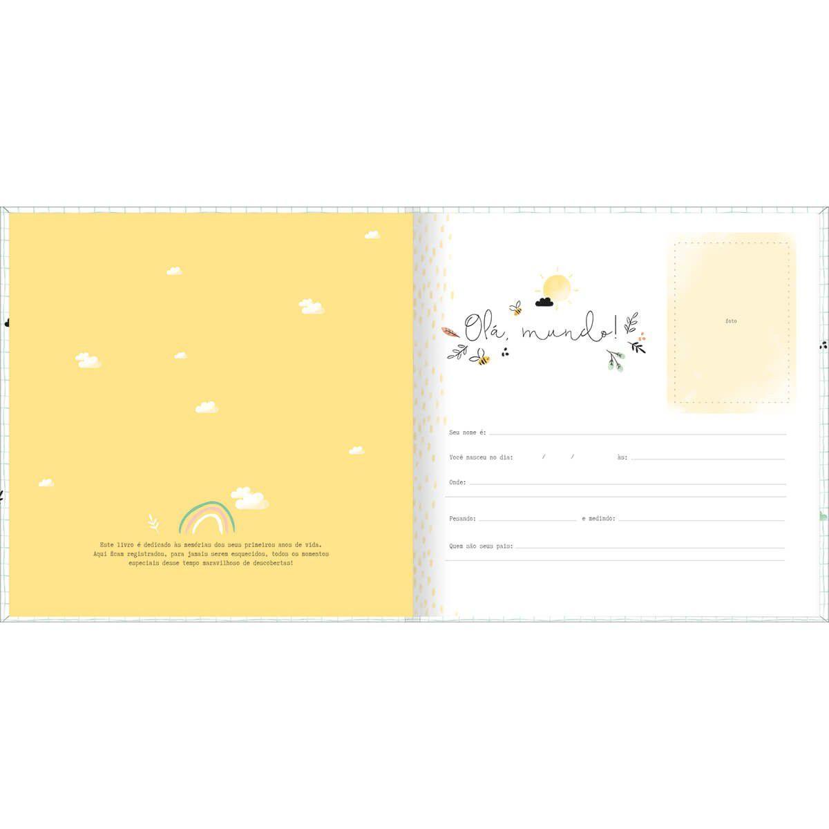 Livro do bebê 34 folhas Tilibra