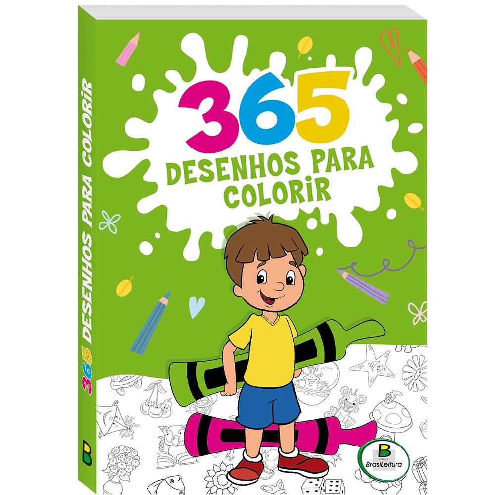Livro infantil 365 desenhos para colorir 3 Todolivro