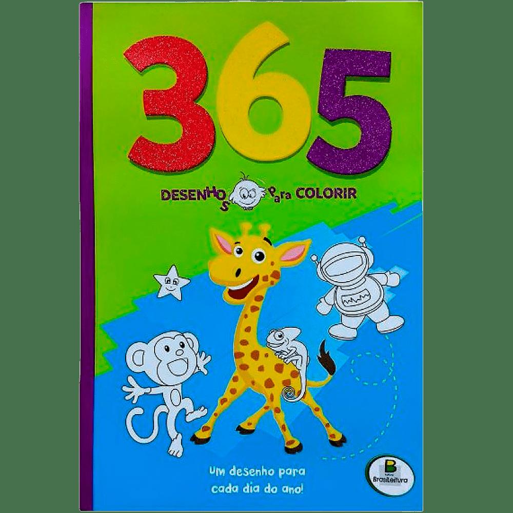 Livro infantil 365 desenhos para colorir 1 Todolivro