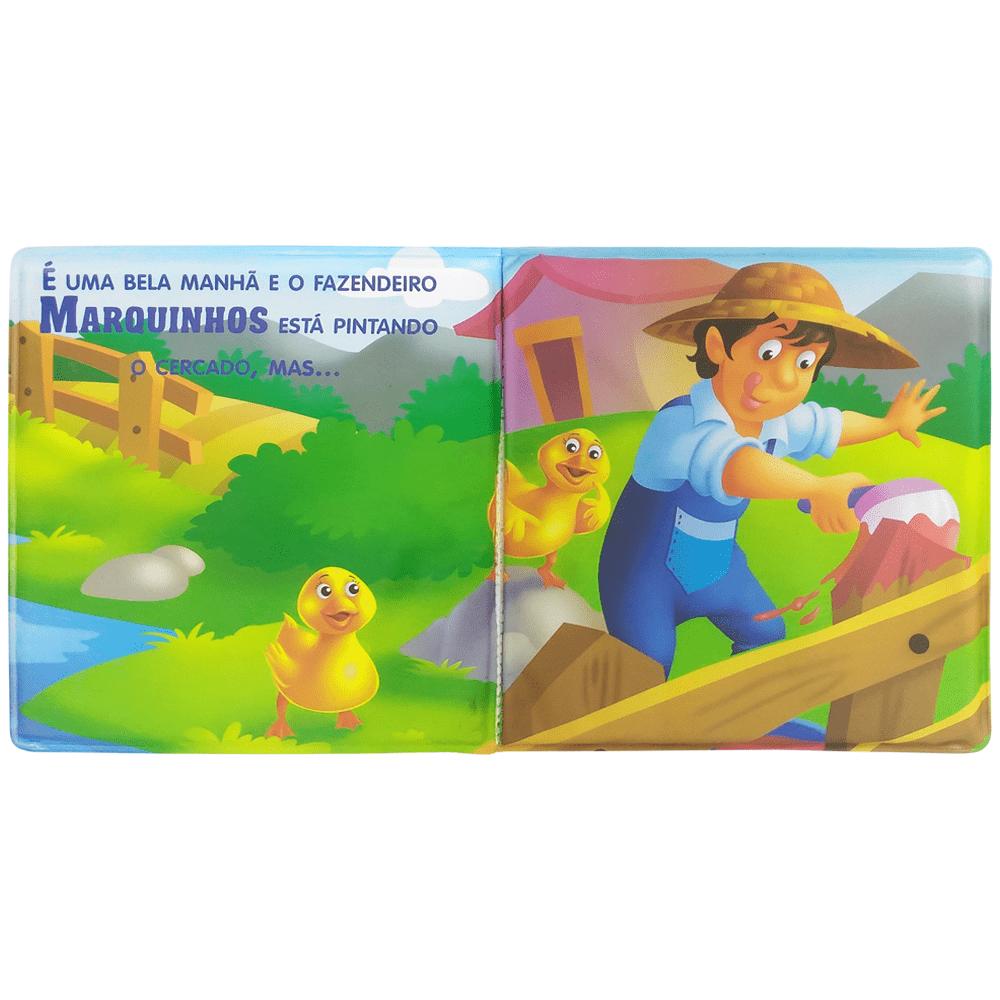 Livro infantil aventura no banho a patinha e a sua amiga Todolivro