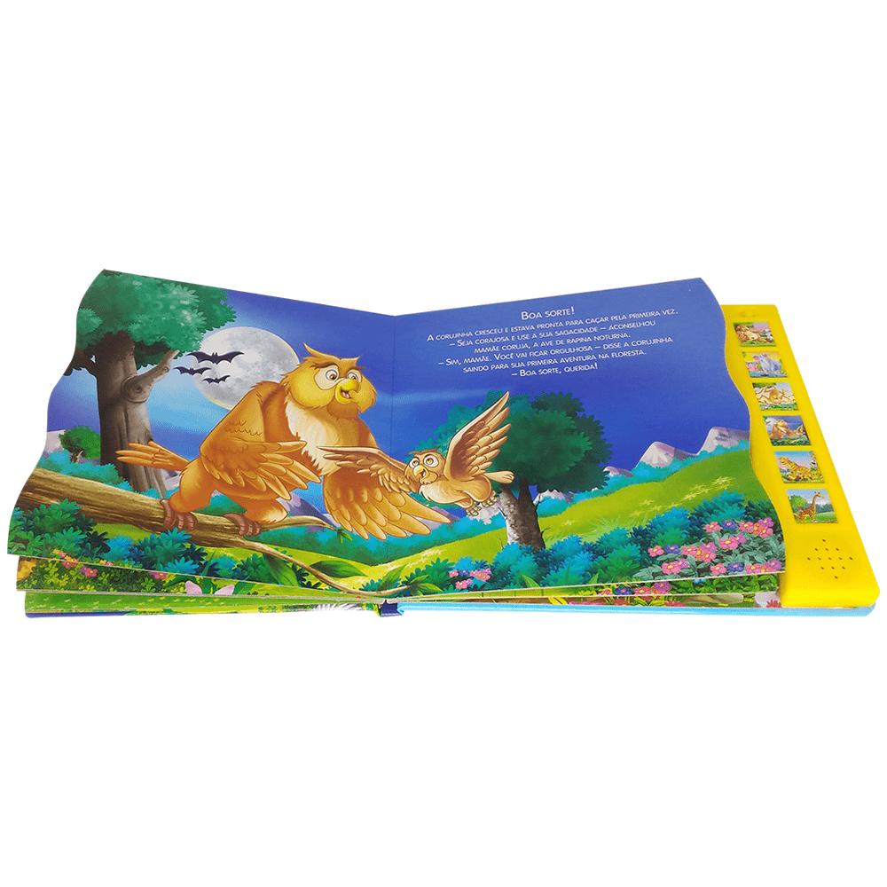 Livro infantil ler e ouvir Animais da floresta Todolivro