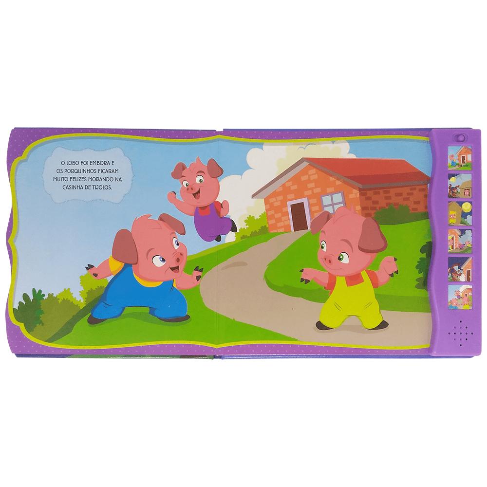 Livro infantil Ler e ouvir Os três porquinhos Todolivro