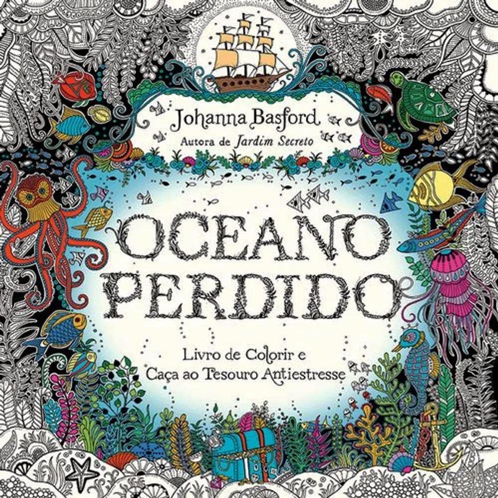 Livro para colorir oceano perdido Sextante
