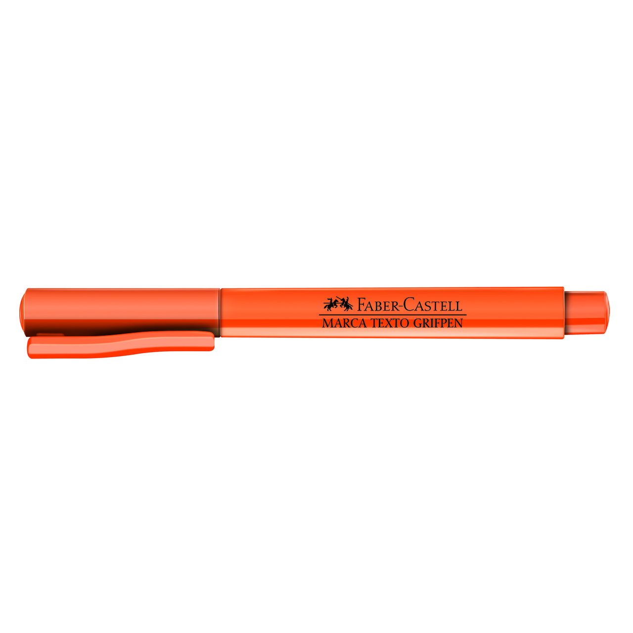 Marca texto laranja Faber-Castell