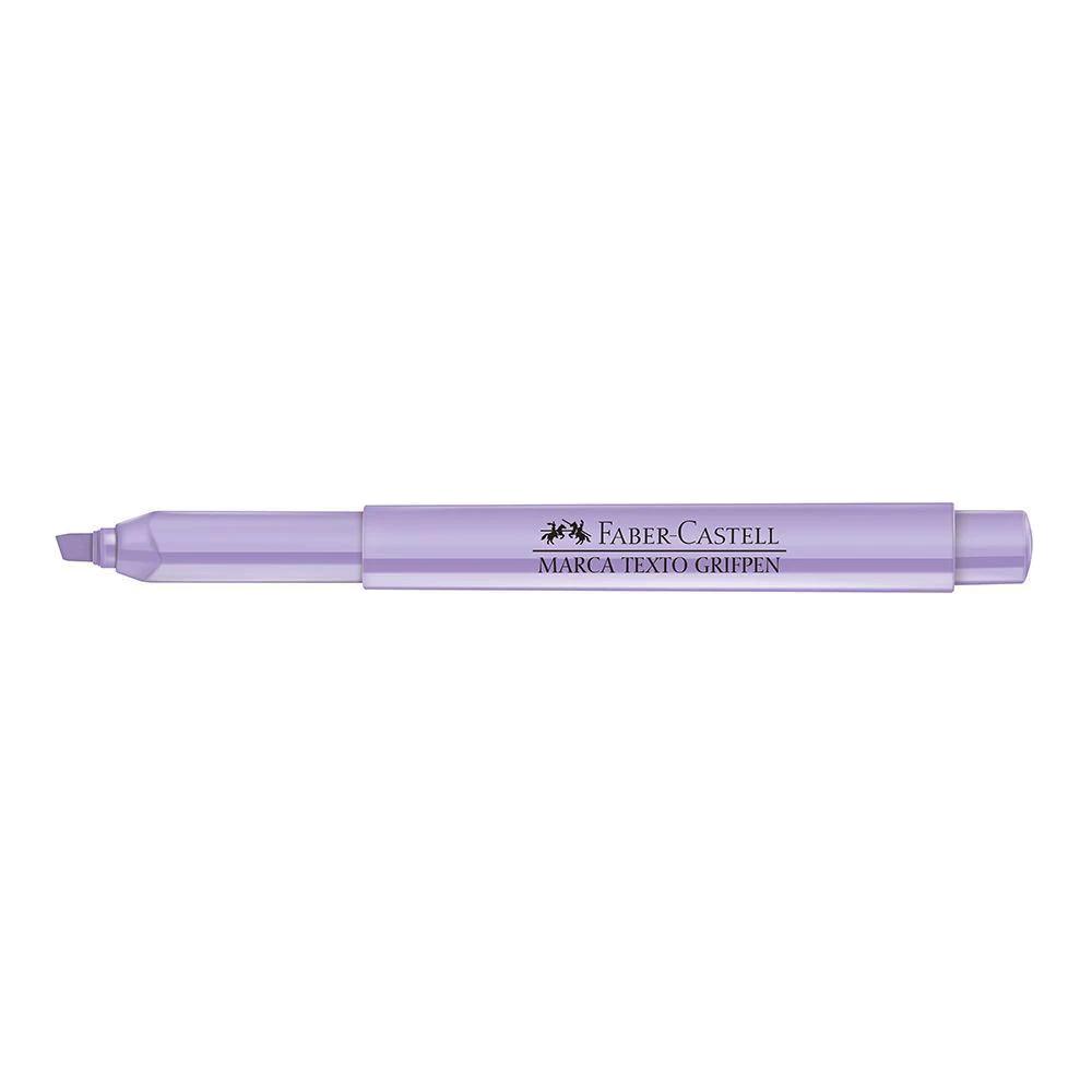 Marca texto lilás pastel Faber-Castell