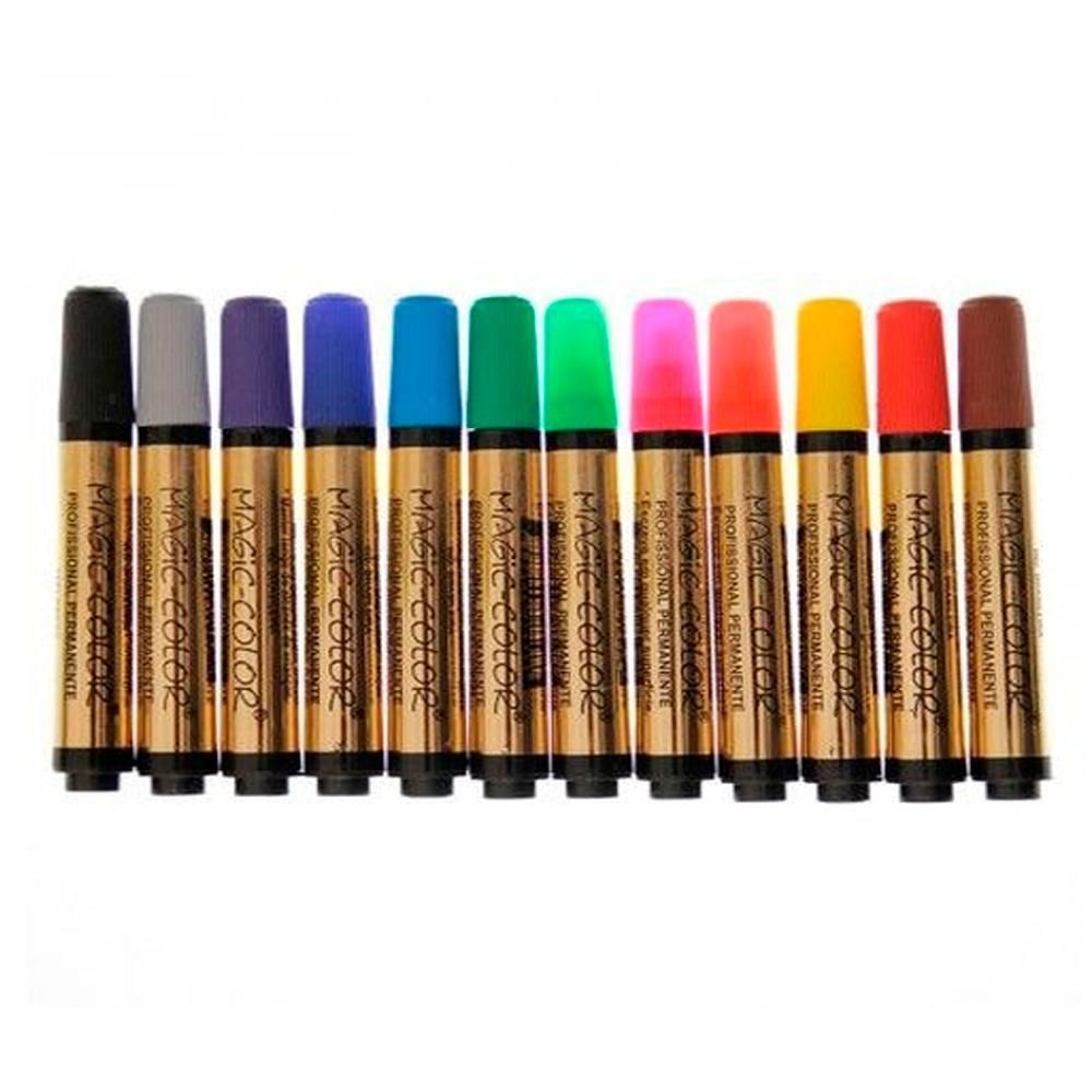 Marcador 12 cores profissional Magic Color