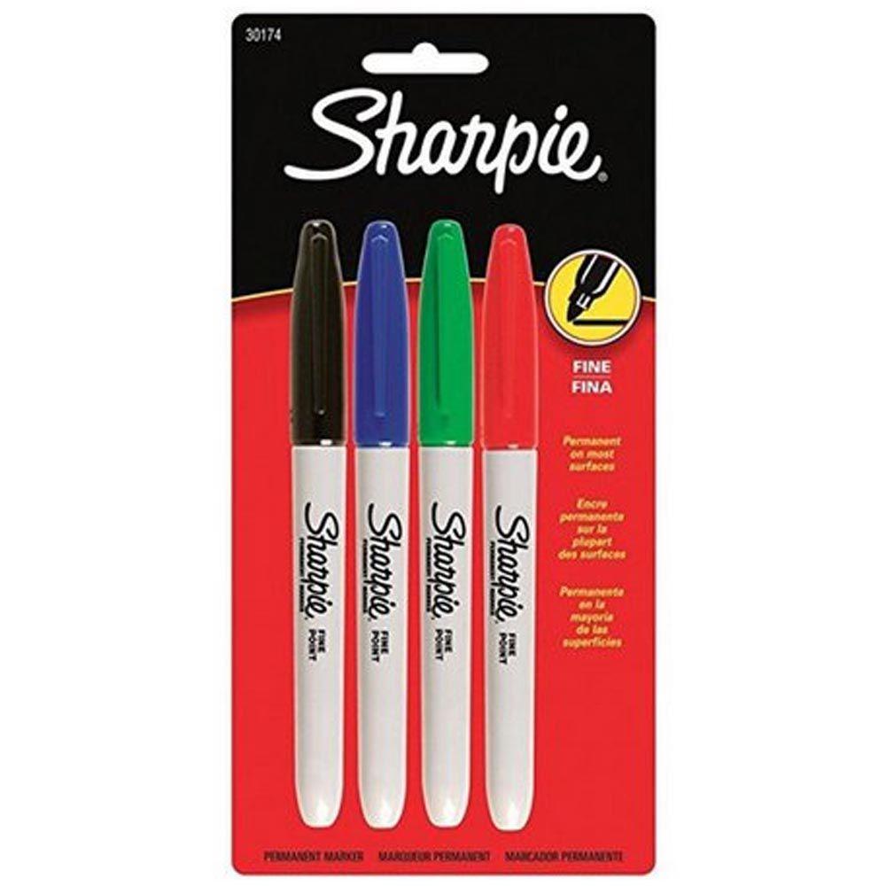 Marcador permanente 4 cores Sharpie