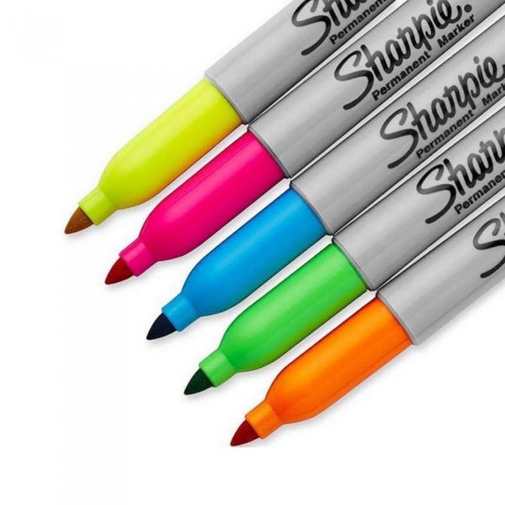 Marcador permanente 5 cores neon Sharpie