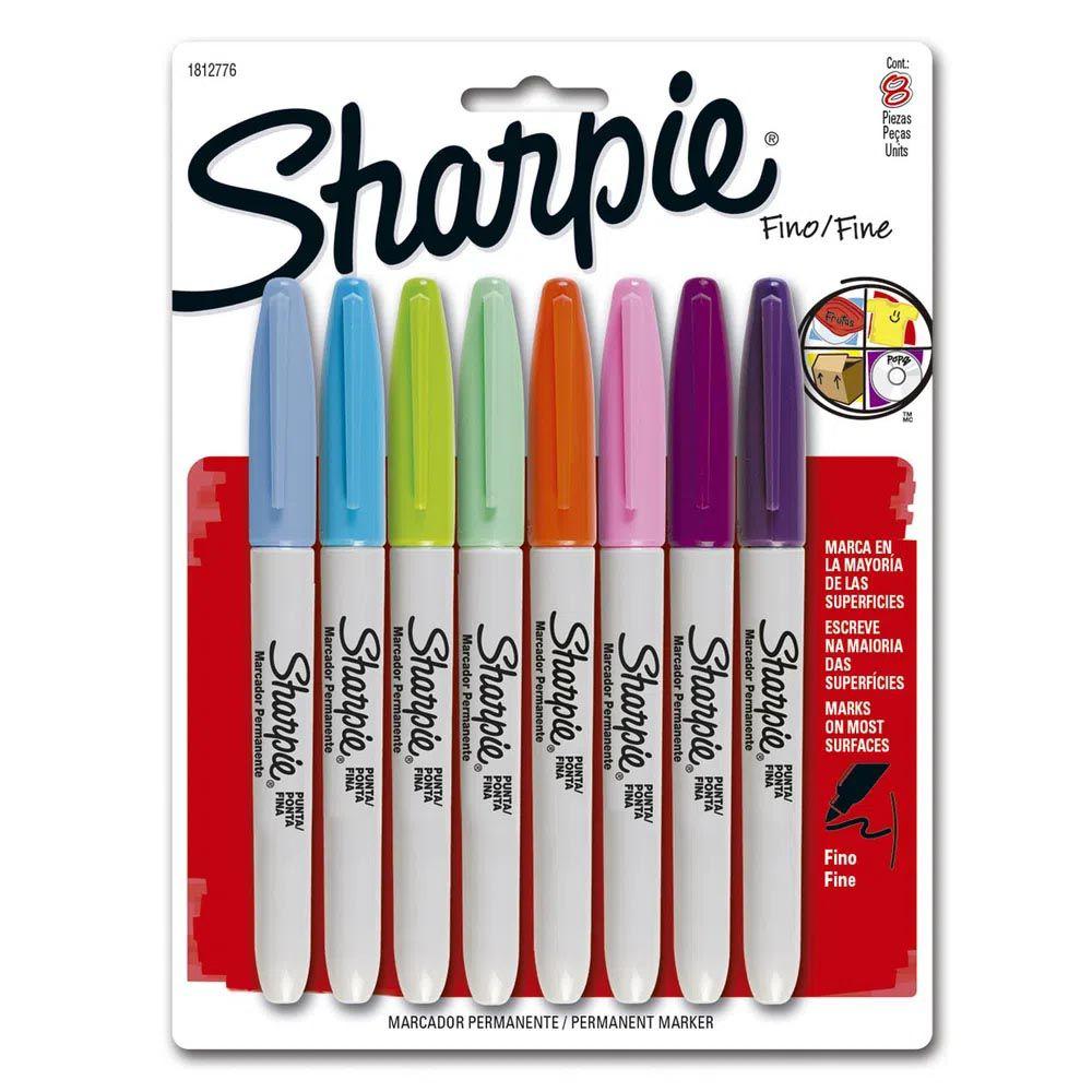 Marcador permanente 8 cores Sharpie