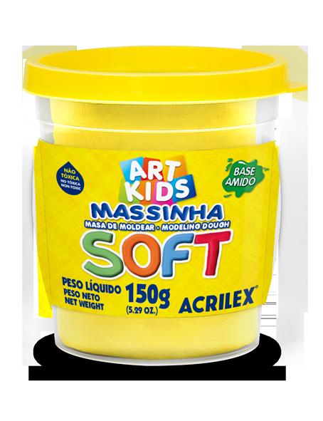Massa modelar 150g amarelo Acrilex